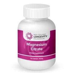 MAGNESIUM Citrate 120 Capsules, (B# 001)
