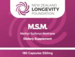 MSM Capsules,  180 capsules, (B# 021)